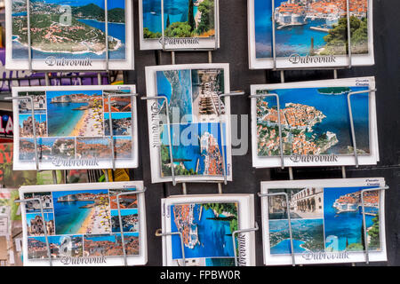 Souvenirs on sale to tourists at shops in the old city of Dubrovnik. - Stock Photo