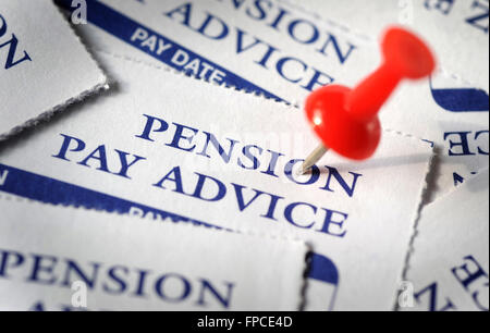 ... PENSION PAY ADVICE SLIPS WITH PIN RE COMPANY PENSIONS STATE INCOME OAP  RETIREMENT POT WAGES PLANNING