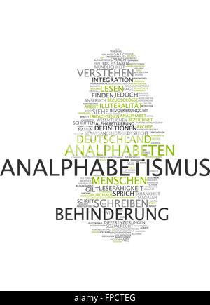 analphabetismus behinderung deutschland lesen - Stock Photo
