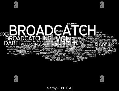 broadcatch form vgl inhalt inhalte rundfunk - Stock Photo