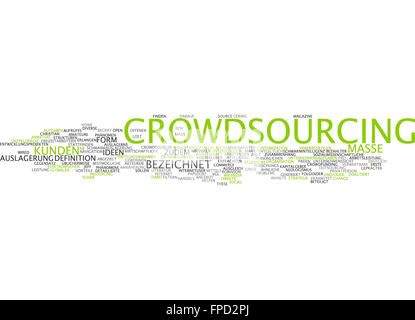 Modern abstract typographic wallpaper of 'Crowdsourcing' - Stock Photo