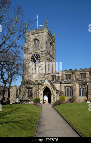 The Parish Church of the Holy Trinity, Skipton, West Yorkshire. - Stock Photo