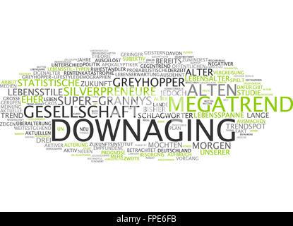 downaging downage megatrend trend zukunft - Stock Photo