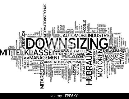 downsizing motor motoren automobilindustrie - Stock Photo