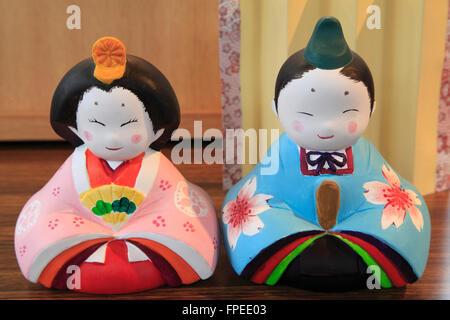 Japan; Seto City, Aichi Prefecture, ceramics, dolls, - Stock Photo