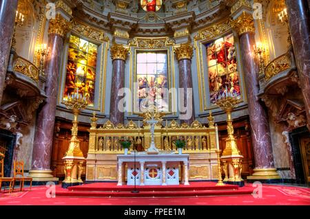 Berlin Berliner Dom innenaufnahme Kathedrale - Stock Photo