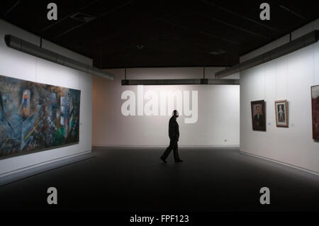 Inside the Musée Royaux des Beaux-Arts, Brussels, Belgium. This exhibition, one of the most important and visited - Stock Photo