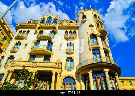 Hotel Casa Fuster by Lluis Domenech i Montaner. Barcelona, Catalonia, Spain - Stock Photo