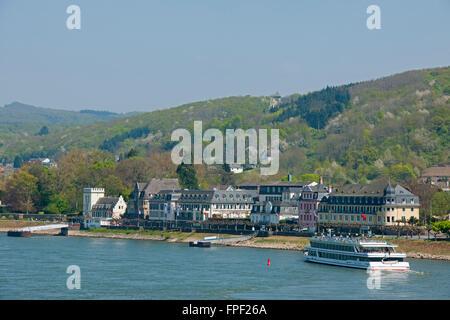 Deutschland, Rheinland-Pfalz, Unkel, Rheinschiff Rheinschiff MS Rheinprinzessin - Stock Photo