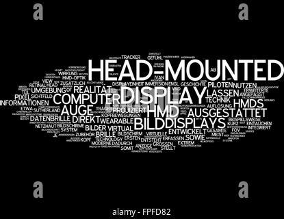 Head-mounted display head mounted bild bildschirm