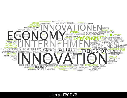 innovation economy innovationen unternehmen - Stock Photo