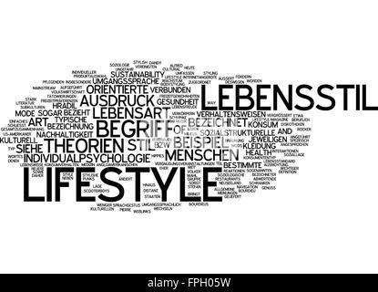 lifestyle lebensstil ausdruck begriff leben stil - Stock Photo