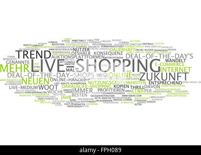 Live-shopping live shop shopping trend einkaufen - Stock Photo