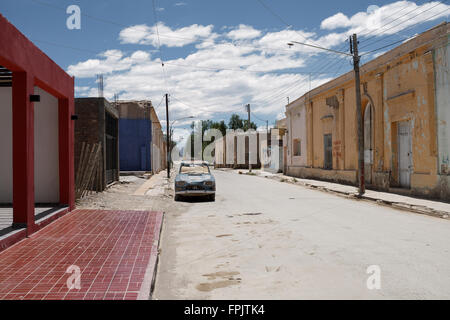 Village street and houses townscape  infrastructure argentina - Stock Photo
