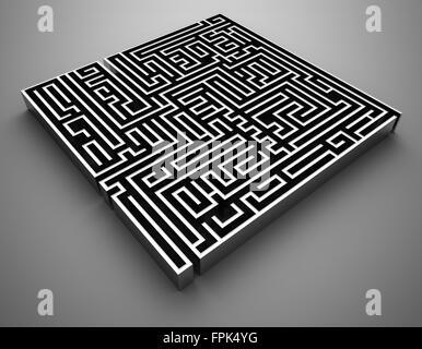 Chrome Maze , computer generated image.