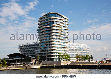 Unilever Building and Marco Polo Tower in Hamburg Hafencity ...