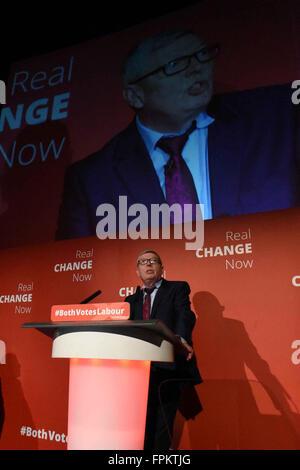 Glasgow, Scotland, United Kingdom, 19, March, 2016. Alan Johnson MP, Leader of the 'Labour in for Britain' in the - Stock Photo