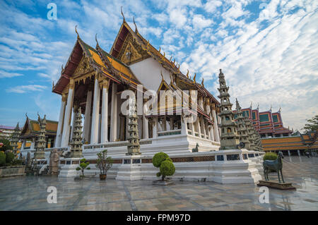 Wat Suthat temple in Bangkok, Thailand - Stock Photo