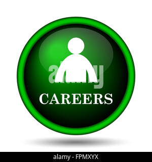 Careers icon. Internet button on white background. - Stock Photo