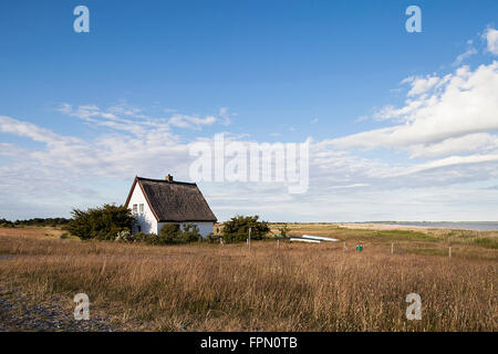 House in Neuendorf, Hiddensee island - Stock Photo