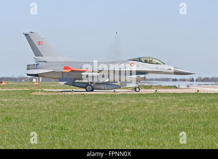 F-16AM Fighting Falcon, E-608 Royal Danish Air Force - Stock Photo