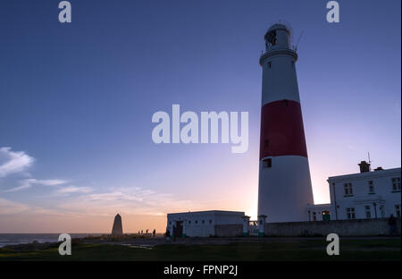 Evening Portland Bill lighthouse - Stock Photo