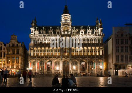 The Maison du Roi in Brussels, Belgium. Grand Place, Bruxelles. Maison du Roi, one of Europe finest historic squares - Stock Photo