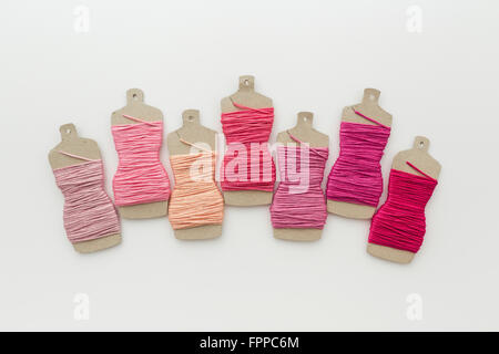 Cute Dress Form Embroidery Thread Holders Stock Photo Royalty Free