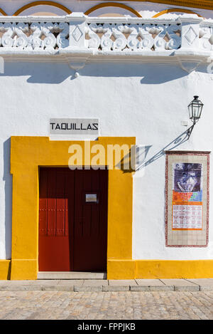 Plaza de toros de la Real Maestranza de Caballeria de Sevilla, Seville, Andalusia, Spain - Stock Photo