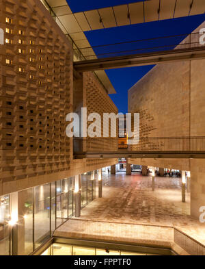 The two angular blocks of the new parliament building in Valletta designed and built by the architectural firm of - Stock Photo