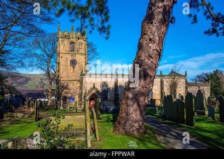 St Edmund's Parish Church, Castleton, Derbyshire - Stock Photo