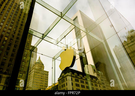 Apple Store 5th Avenue New York, USA - Stock Photo