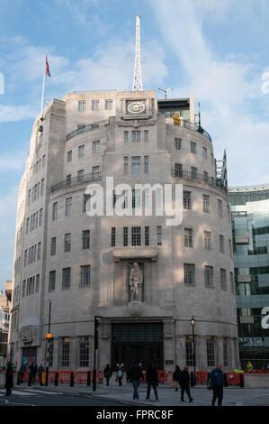 BBC British Broadcasting House Portland Place London UK - Stock Photo