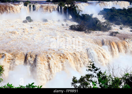 The Iguazu waterfalls on the border of Brazil and Argentina, South America