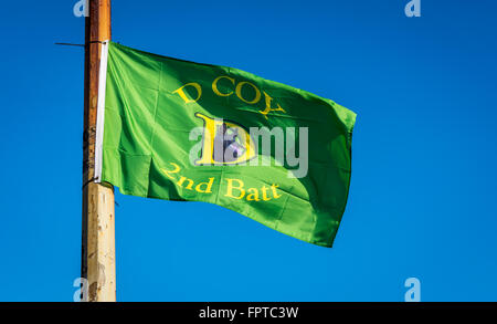 IRA D Company flag flies in Lower Falls Road area for Easter commemorations. - Stock Photo