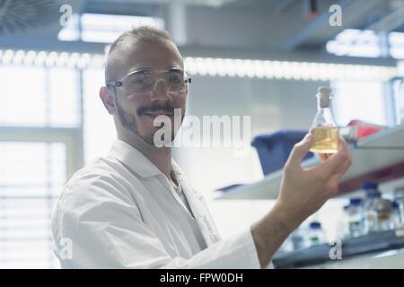 Scientists working in a pharmacy laboratory, Freiburg Im Breisgau, Baden-Württemberg, Germany - Stock Photo