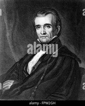 PORTRAIT JAMES K. POLK 1795 1849 11th AMERICAN PRESIDENT DEMOCRAT WAR WITH MEXICO EXPANSIONISM - Stock Photo