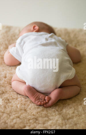 Feet And Toes Of A Sleeping Child Little Boy Asleep