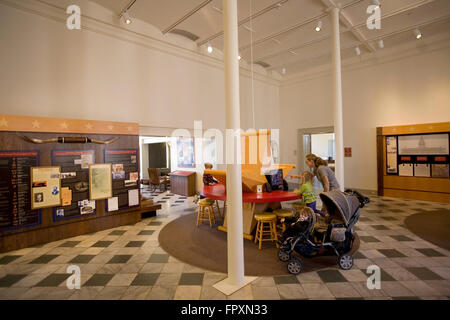Interactive exhibits appeal to visitors of all ages at the Capitol Visitors Center, housed in the 1857 Texas General - Stock Photo