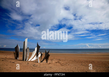 Omaha Beach, Normandy, France - Stock Photo