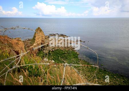 Pointe du Hoc, Normandy, France - Stock Photo