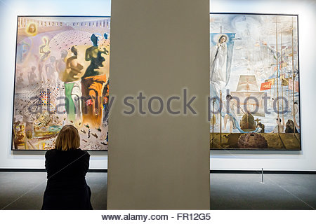 Florida FL St. Saint Petersburg Salvador Dali Museum art gallery inside Halucinogenic Toreador painting The Discovery - Stock Photo