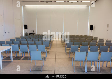 Florida FL Tampa Waterfront Arts District Tampa Museum of Art meeting room chairs organized - Stock Photo