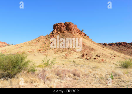 Arid region in the Outback by the Great Northern Highway, Western Australia, WA, Australia - Stock Photo
