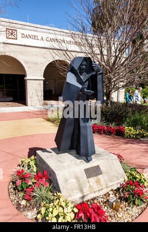 Florida FL Saint St Leo Saint Leo University campus monk statue time capsule - Stock Photo
