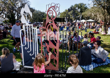 Florida FL Orlando North Orange District Loch Haven Park The Mennello Museum of American Art Indie-Folkfest festival - Stock Photo