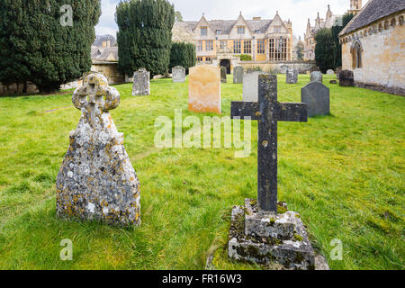 St Peter's Church Stanway Gloucester England - Stock Photo