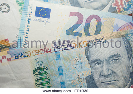 Peruvian soles peru sol currency notes and coins stock photo peruvian soles peru sol and euros currency stock photo thecheapjerseys Images