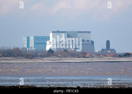 Somerset, UK - February 28, 2016: Hinkley Point Nuclear Power Station Somerset, UK. EDITORIAL USE ONLY - Stock Photo