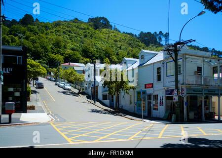 Residential areas, Wellington, New Zealand - Stock Photo